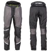 Spodnie motocyklowe męskie, Męskie letnie spodnie motocyklowe W-TEC Alquizar, Czarno-szary, L
