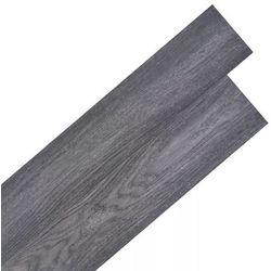 vidaXL Samoprzylepne panele podłogowe, 36 szt., PVC, 5,02 m², czarne Darmowa wysyłka i zwroty