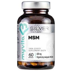 MSM, Siarka Organiczna, MyVita SILVER PURE, 60 kapsułek