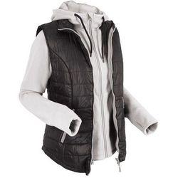 Kamizelka outdoorowa 3 w 1 z wyjmowaną bluzą z polaru bonprix czanry