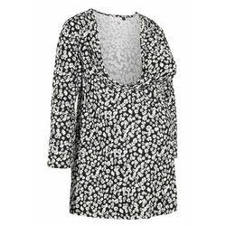 Shirt ciążowy i do karmienia piersią LENZING™ ECOVERO™ bonprix czarny w kwiaty