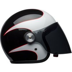BELL RIOT BOOST WHITE/BLACK/RED Kask otwarty