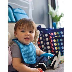 Rovens.pl BUILT Mess Mate - 2 śliniaki dla dzieci (Dribble Dots Blue)