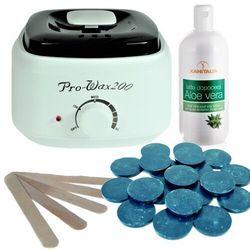 Zestaw podgrzewacz+wosk azulen+szpatuły + balsam