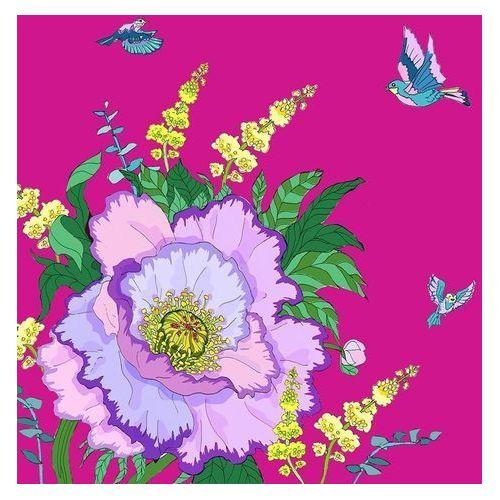 Pozostałe artykuły szkolne, Karnet Swarovski kwadrat CL0604 Kwiaty purpura