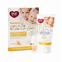 Splat Baby naturalna pasta do zębów dla dzieci z szczoteczką do masażu smak Vanilla (For Babies Aged 0-3 Years) 40 ml