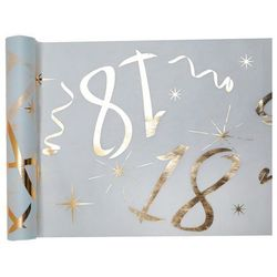 Dekoracja bieżnik na stół z nadrukiem na 18 urodziny - 30 cm - 1 szt.