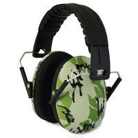 Pozostałe bezpieczeństwo w domu, Słuchawki ochronne nauszniki dla dzieci od ok 2lat - zielone-moro