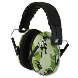 Słuchawki ochronne nauszniki dla dzieci od ok 2lat - zielone-moro
