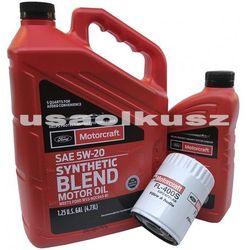 Oryginalny filtr oraz syntetyczny olej silnikowy Motorcraft 5W20 Ford F-150 4,2 V6 2004-