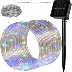 WĄŻ ŚWIETLNY SOLARNY 100 LED LAMPKI OGRODOWE ŚWIĄTECZNE MULTIKOLOR - Mix kolorów