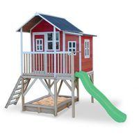 Domki i namioty dla dzieci, Domek cedrowy dla dzieci EXIT LOFT 550 /czerwony/