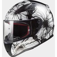 Kaski motocyklowe, KASK LS2 FF353 RAPID POPPIES BLACK WHITE