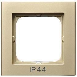 OSPEL SONATA RH-1R/39 Ramka pojedyncza do łączników IP44 SZAMPAŃSKI ZŁOTY