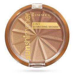 Rimmel Sunshimmer 3in1 Bronzer - Puder brązujący 3 w 1 001 Gold Princess, 9,9 g