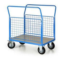 Wózek platformowy z 2 ścianami drucianymi, 1000x700 mm