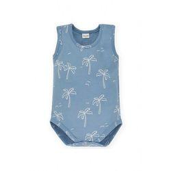 Body niemowlęce na ramiączka niebieskie 5T38AX Oferta ważna tylko do 2023-05-06