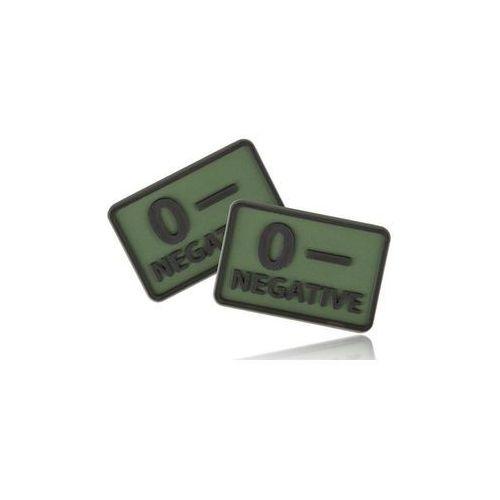 Naszywki i dodatki, naszywka emblemat GRUPA KRWI kpl. 2szt. PVC olive green (OD-BLP-RB-02)