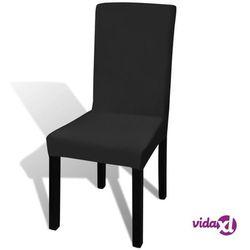 vidaXL Czarne, rozciągliwe pokrowce na krzesła, 6 sztuk Darmowa wysyłka i zwroty