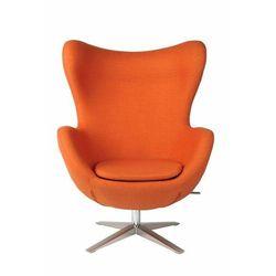 Fotel Jajo szeroki wełna pomarańczowy JA-2717