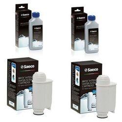 SAECO zestaw 2 x odkamieniacz 2 x filtr Britta