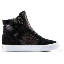 buty SUPRA - Womens Skytop Wedge Black-White (BLK) rozmiar: 36.5