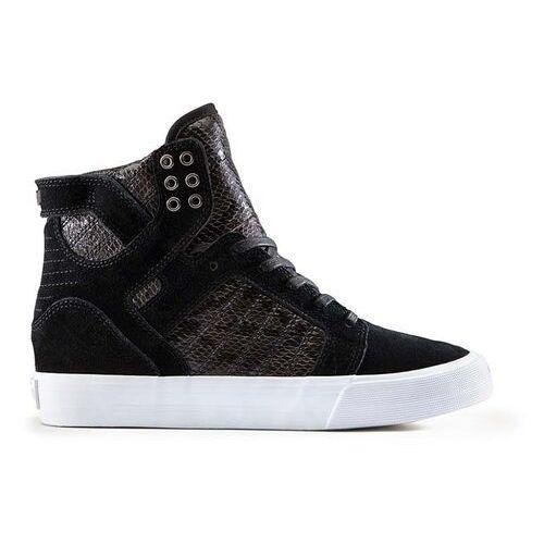 Damskie obuwie sportowe, buty SUPRA - Womens Skytop Wedge Black-White (BLK) rozmiar: 36