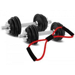 Hantle żeliwne zestaw 2x7,5 kg Tytan Sport 15 kg + ekspander