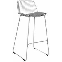 Krzesło barowe Dill Low szare z szarą poduszką - 66 \ szary