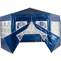 Namioty ogrodowe, PAWILON NAMIOT OGRODOWY HANDLOWY 6 ŚCIANEK - Niebieski 2451 (-15%)