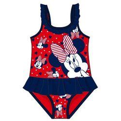 Disney by Arnetta jednoczęściowy strój kąpielowy dziewczęcy Minnie 92 czerwony