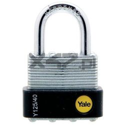Y125/40/122/1 Średnia kłódka ze stali laminowanej z pałąkiem ze stali hartowanej Yale