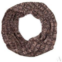 Melanżowy komin szalik damski beżowo-brązowy - brązowy ||beżowy ||wielobarwny Szaliki, czapki, rękawiczki (-21%)