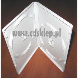 Etui plastikowe na 2DVD 14mm białe