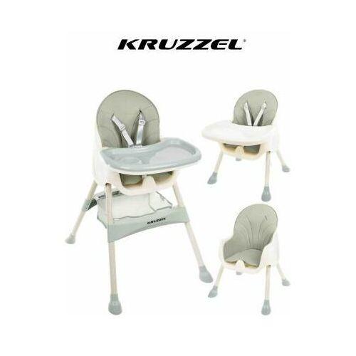 Krzesełko do karmienia 3w1 jasnozielony Taca Fotelik, 00012059