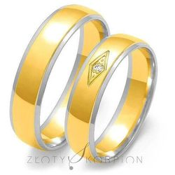 Obrączki ślubne Złoty Skorpion – wzór Au-OE118