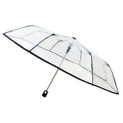 Smati - składany parasol - czarna bordiura - przeźroczysty