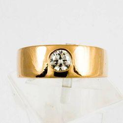 Złoty pierścionek z diamentem P1539