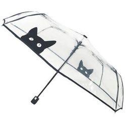 - składany parasol - kot - przeźroczysty marki Smati