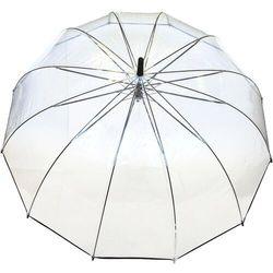 Smati Długi parasol przezroczysty 12 żeber, czarna bordiura (6928231213126)