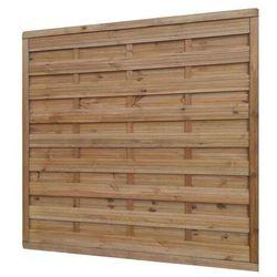 Płot drewniany Blooma 180 x 180 cm brązowy rama 40 x 60 mm, WB_100_16/FEN19_WP