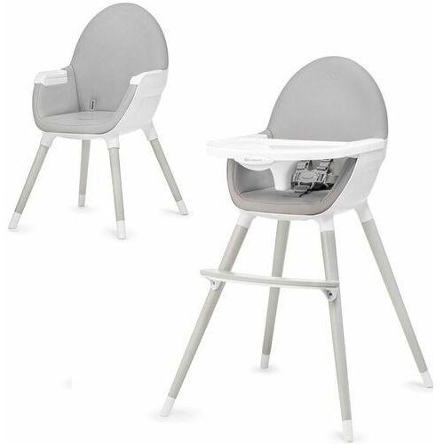 KinderKraft krzesło do karmienia FINI grey legs, kolor szary