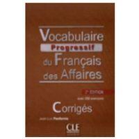 Książki do nauki języka, Vocabulaire progressif du francais des affaires corriges (opr. miękka)