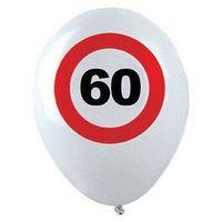 Balony, Balony Znak zakazu 60tka - 30 cm - 12 szt.