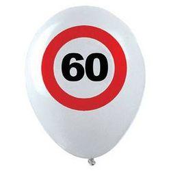 Balony Znak zakazu 60tka - 30 cm - 12 szt.