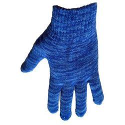 1 Kiddy rękawiczki 5-palczaste c.niebieski melanż