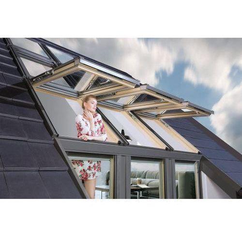 """Okna dachowe, Zestaw okien typu """"Galeria"""" Okpol 3 x 94/140/75 cm"""