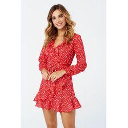 Sukienka Poppy w kolorze czerwonym w kwiaty