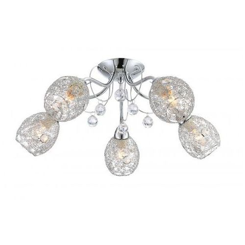 Lampy sufitowe, Plafon lampa oprawa sufitowa Globo Kordula 5x40W E14 chrom 56689-5 >>> RABATUJEMY do 20% KAŻDE zamówienie!!!