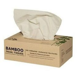 ZUZII Chusteczki higieniczne bambusowe w pudełku 3-warstwowe 100 sztuk
